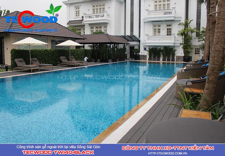 Dự án sàn gỗ ngoài trời villa Sông Sài Gòn