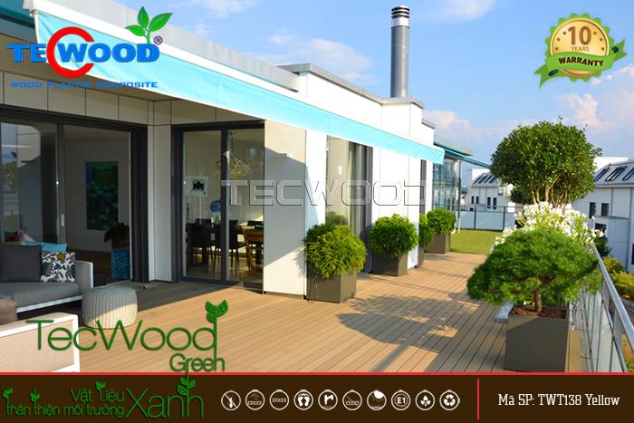 sàn gỗ sân thượng tecwood