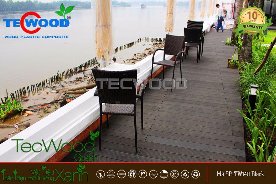 sàn gỗ ngoài trời tecwood tw140 black