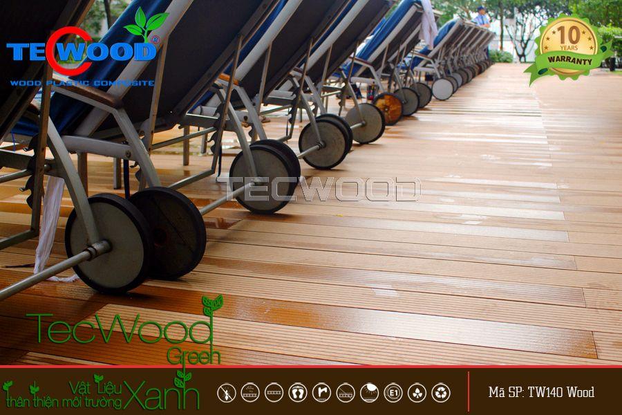 sàn gỗ chống nước lót hồ bơi