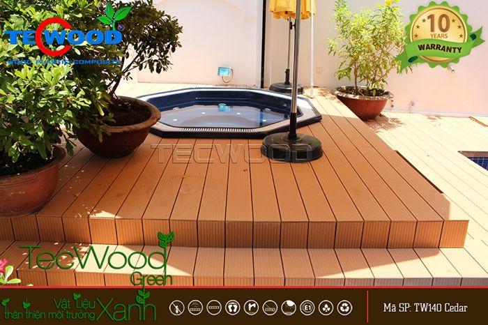 Sàn gỗ ngoài trời Cedar 140