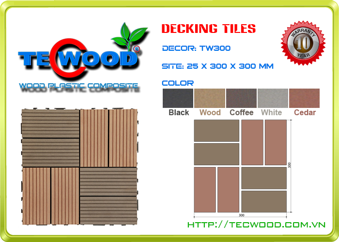 Tấm vỉ gỗ nhựa TecWood TW300 3