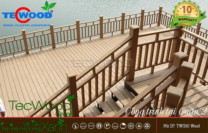 hàng rào lan can gỗ