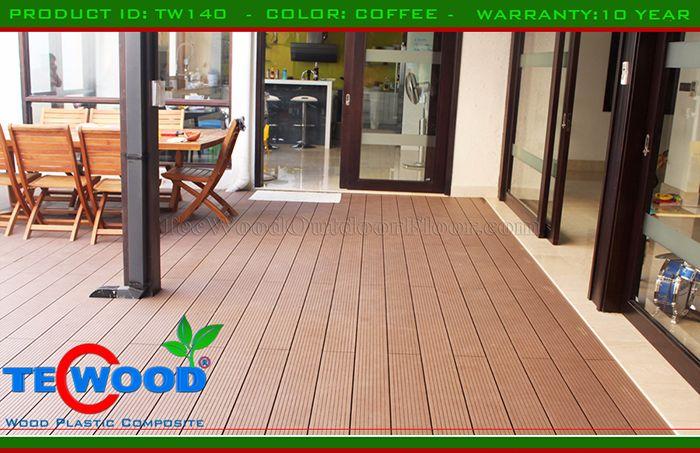 Sàn gỗ công nghiệp lót sân vườn
