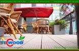 Sàn gỗ ngoài trời cho quán cafe