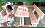 bàn ghế gỗ nhựa TecWood