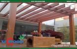 lam che nắng gỗ nhựa làm đẹp thêm cho không gian ngoại thất