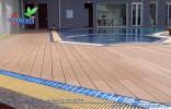 Sàn gỗ ngoài trời công trình khu biệt thự hà đô