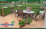 gỗ nhựa, TecWood, sàn gỗ lót sân vườn, ván lót sân thượng
