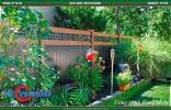 sàn gỗ lót sân vườn