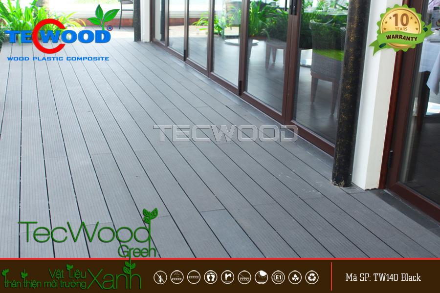 sàn gỗ TW140 black lót ban công
