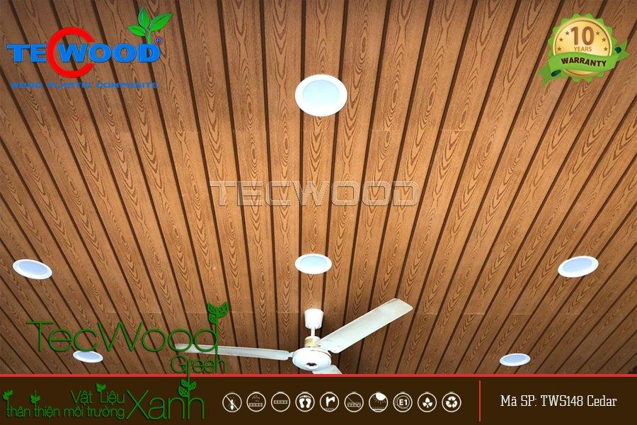 ốp trần gỗ nhựa bằng tws148 cedar