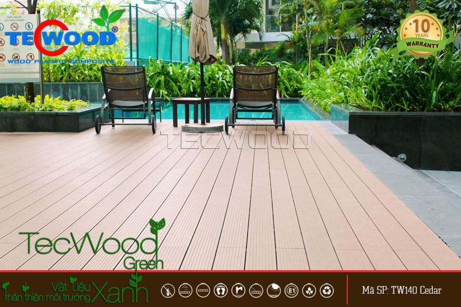 gỗ nhựa lót sàn