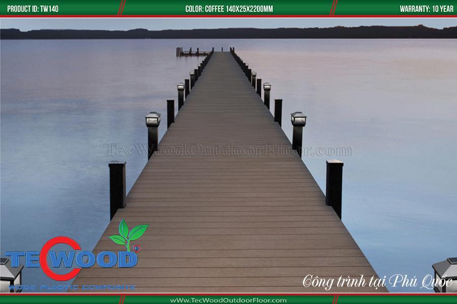 Ứng dụng sàn gỗ ngoài trời lót cầu cảng